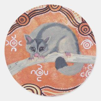 Aboriginal Art Possum Sticker