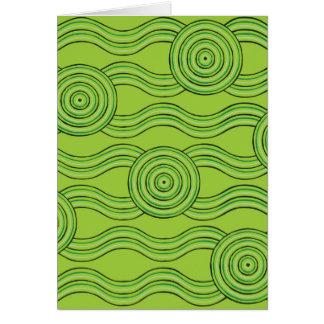Aboriginal art rainforest card
