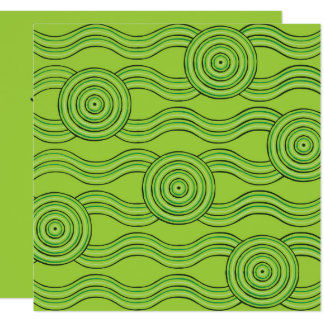Aboriginal art rainforest card