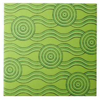 Aboriginal art rainforest ceramic tile
