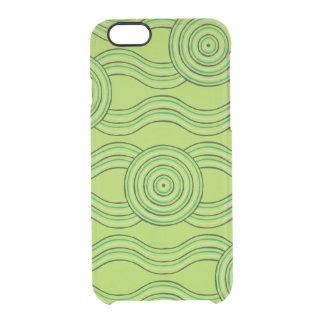 Aboriginal art rainforest clear iPhone 6/6S case
