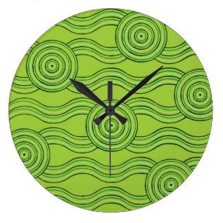Aboriginal art rainforest clocks