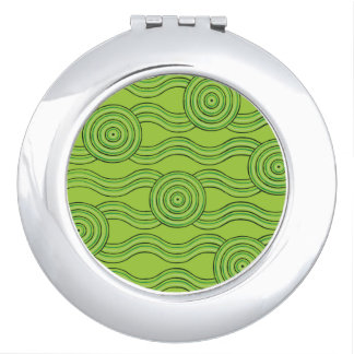 Aboriginal art rainforest compact mirrors