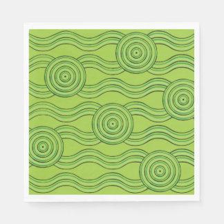 Aboriginal art rainforest disposable napkins