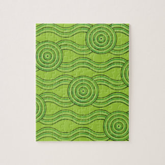 Aboriginal art rainforest jigsaw puzzle