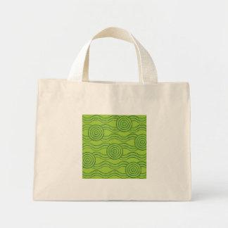 Aboriginal art rainforest mini tote bag