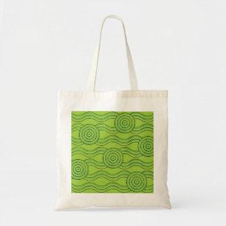 Aboriginal art rainforest tote bag