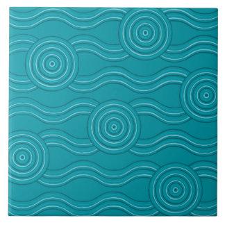 Aboriginal art reef ceramic tile