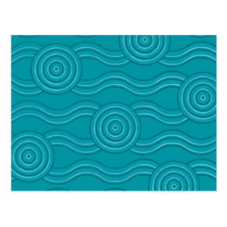 Aboriginal art reef postcard