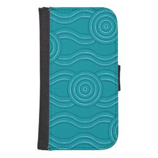 Aboriginal art reef samsung s4 wallet case