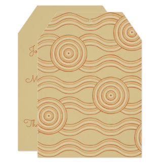 Aboriginal art sandstone card