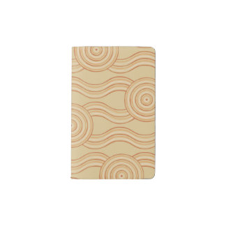 Aboriginal art sandstone pocket moleskine notebook