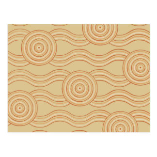 Aboriginal art sandstone postcard