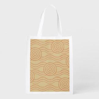 Aboriginal art sandstone reusable grocery bag