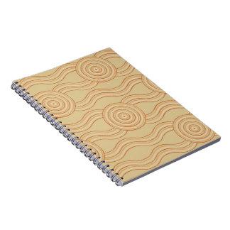 Aboriginal art sandstone spiral notebook