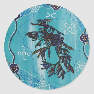 Aboriginal Art Seadragon Sticker
