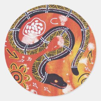 Aboriginal Art Snake Dreaming Sticker