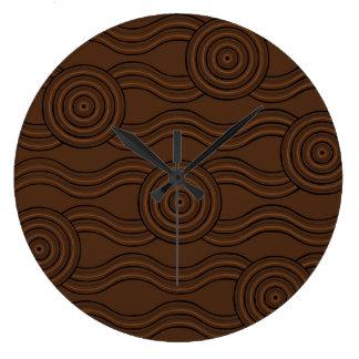 Aboriginal art soil clock