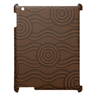 Aboriginal art soil cover for the iPad 2 3 4