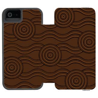 Aboriginal art soil incipio watson™ iPhone 5 wallet case