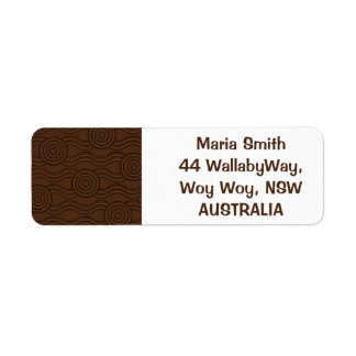 Aboriginal art soil return address label
