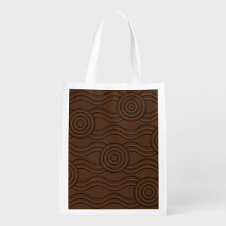 Aboriginal art soil reusable grocery bag
