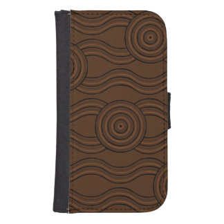Aboriginal art soil samsung s4 wallet case