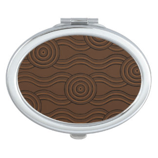 Aboriginal art soil travel mirrors