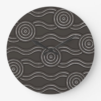 Aboriginal art storm clock