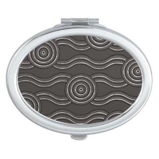 Aboriginal art storm compact mirror