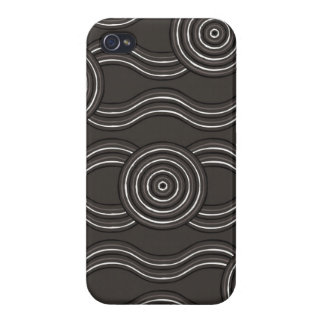 Aboriginal art storm iPhone 4/4S covers