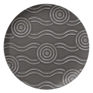 Aboriginal art storm plate