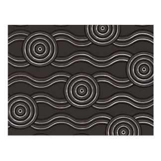Aboriginal art storm postcard