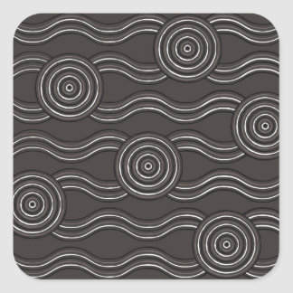 Aboriginal art storm square sticker