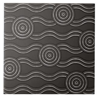 Aboriginal art storm tile