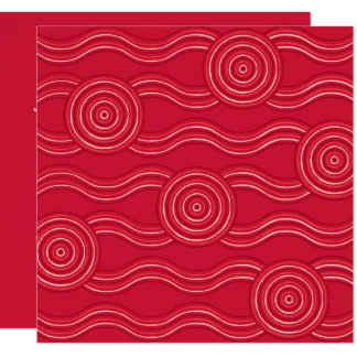 Aboriginal art waratah card