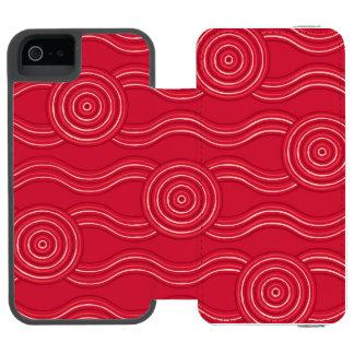 Aboriginal art waratah incipio watson™ iPhone 5 wallet case
