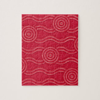 Aboriginal art waratah jigsaw puzzle