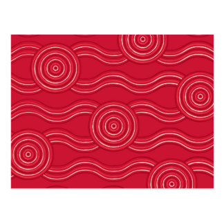 Aboriginal art waratah postcard