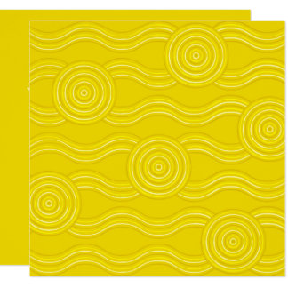 Aboriginal art wattle card