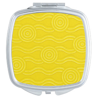 Aboriginal art wattle compact mirrors