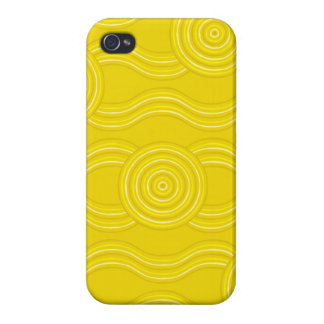 Aboriginal art wattle covers for iPhone 4