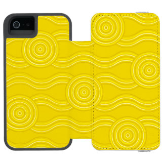 Aboriginal art wattle incipio watson™ iPhone 5 wallet case