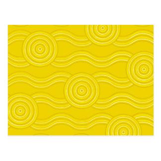 Aboriginal art wattle postcard