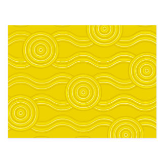 Aboriginal art wattle postcard