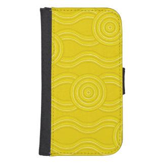 Aboriginal art wattle samsung s4 wallet case