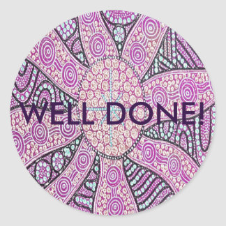 Aboriginal Art Well Done Sticker