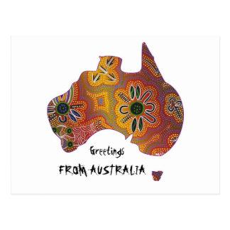 Aboriginal artwork postcard
