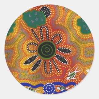 Aboriginal Artwork Round Sticker