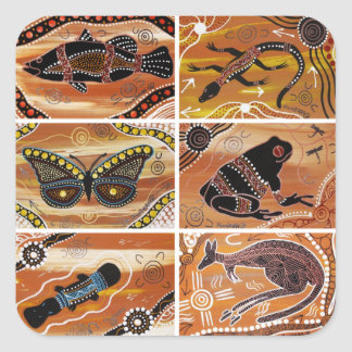 Aboriginal Collage Stickers